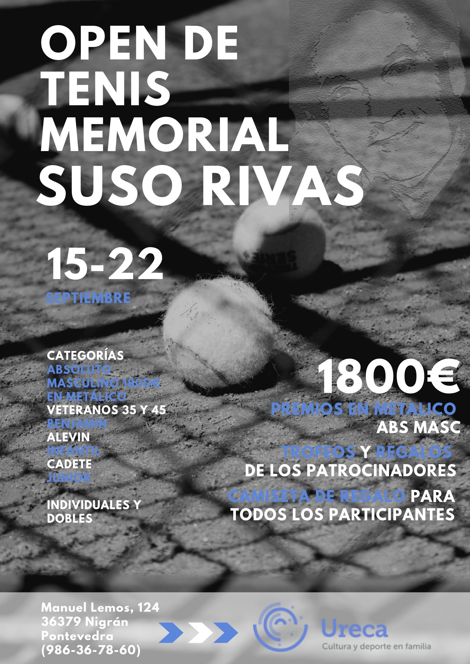cartel Open de tenis MEMORIAL SUSO RIVAS